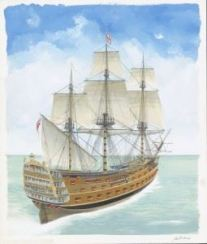 The HMS Victory (Credits: Odyssey Marine Exploration)