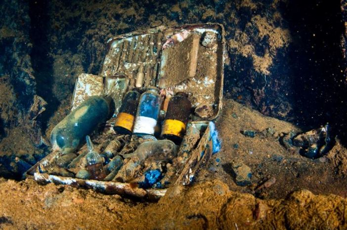 Medical Kit found in the Heian Maru. (Credits: Brandi Mueller)