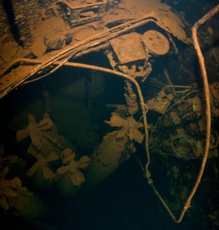 Many torpedos can still be found in Heian Maru. (Credits: Brandi Mueller)