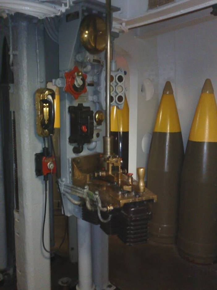 USS New Jersey - 3 - Lower Projectile Handling Room Turret Two