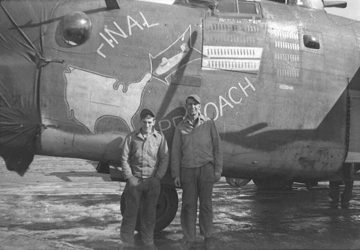 """B-24H serial 42-52457 """"Final Approach"""" (coded 7V-Q) of the 752nd Bombardment Squadron, 458th Bombardment Group"""