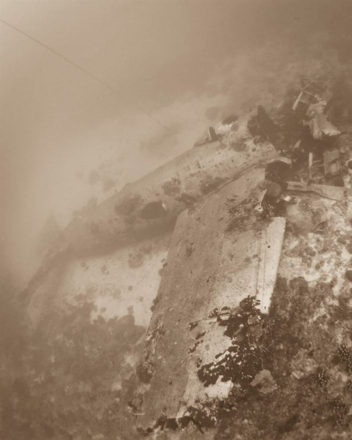 Airplane Wreck of Betty Plane lying on the bottom of Truk Lagoon (Credits: Brandi Mueller)