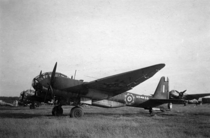 """Dad incorrectly identified this as a Ju188. This aircraft had been earmarked for investigation by the Air Ministry (Air Min. 83). According to luftwaffenexperten.org it is a Junkers Ju388L-1/V6 - W.Nr.500006 - coded PE+IF and """"6"""" of unknown unit - scrapped 1948."""
