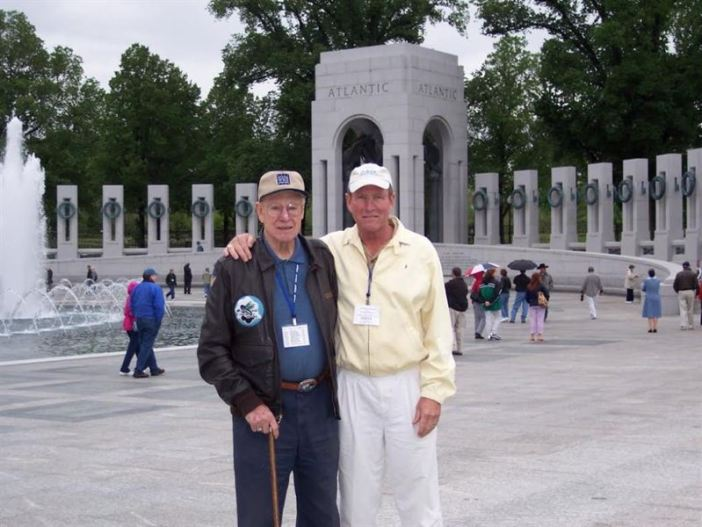 Howard & Steve Snyder at WW II Memorial in Washington, DC in 2004.