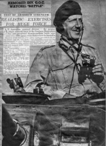 Photo of GOC Horace Robertson published in newspapers after the Maneuvers.