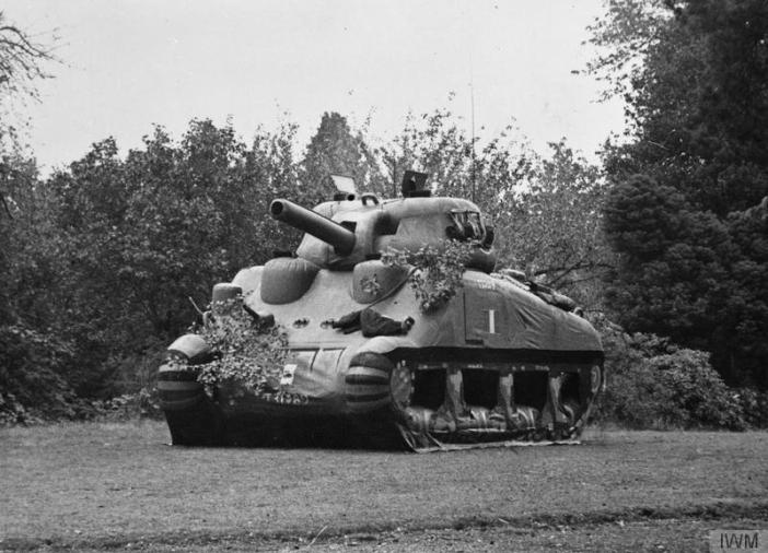 Inflatable Sherman tank. (Credits: © IWM (H 42531))