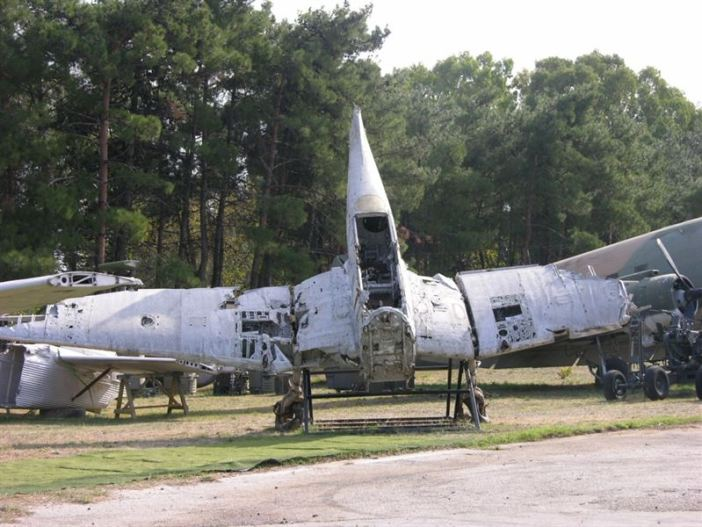 The wreckage of the Stuka dive bomber at the Greek Air Force Museum. (Credits: Jerry Gunner)
