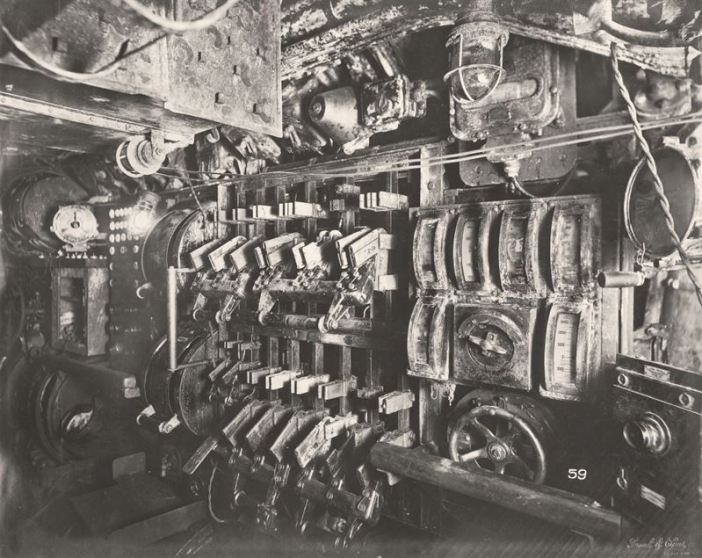 U-Boat 110, Electric Control Room looking aft to port