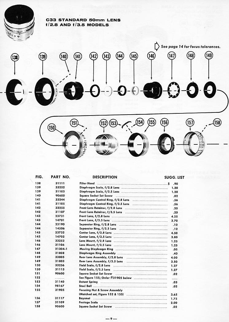 Argus C33 Parts Guide