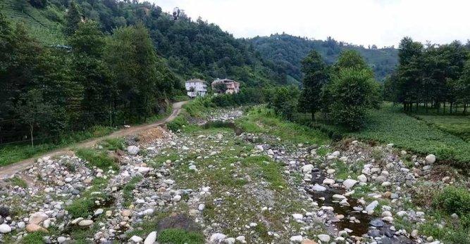 Türkiye'nin En Çok Yağış Alan Kenti Rize'de Dereler Kurudu