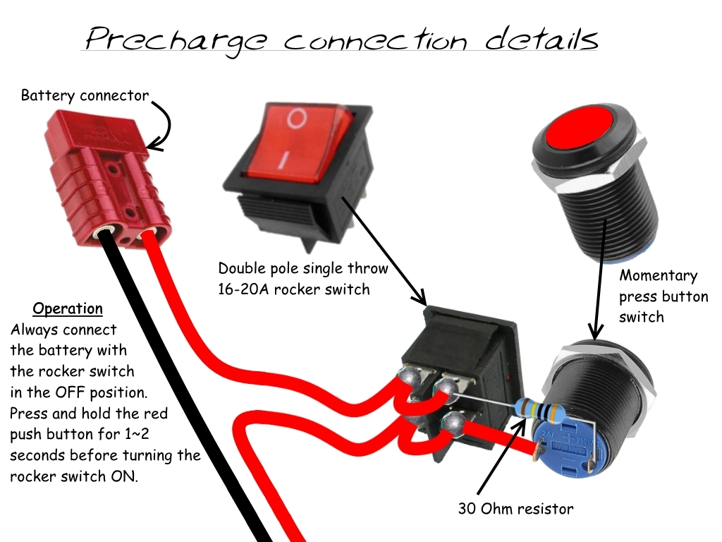 hight resolution of the double pole rocker switch has both sets of contacts connected in parallel to enable it to switch twice as much current as both set of contacts will be