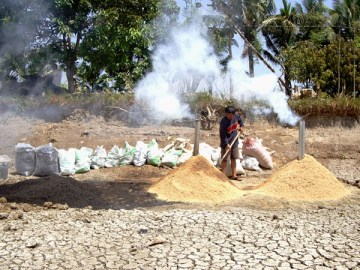 Jil applied techniques learnt at ARI such as rice husk charcoal.
