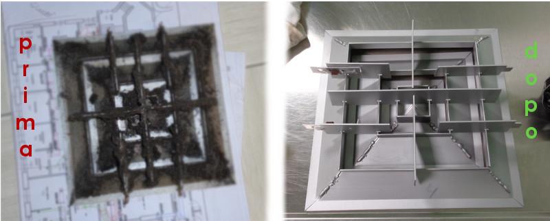 prima e dopo la manutenzione impianti