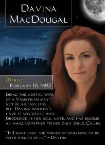 Romance Trading Card for Davina MacDougal