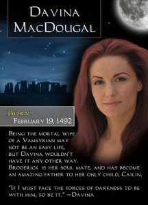 Bonded By Blood Characters - Davina MacDougal