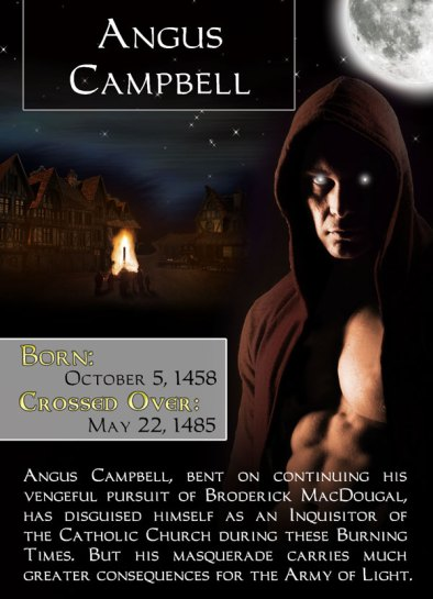 Character Trading Card - Angus Campbell in Midnight Hunt - Book 3 of the Bonded By Blood Vampire Chronicles