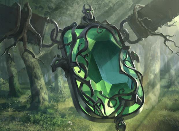 Magic the Gathering Artwork: Emerald Medallion.