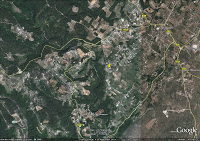 Agroecology: Mas of Beaulieu, sky Google view