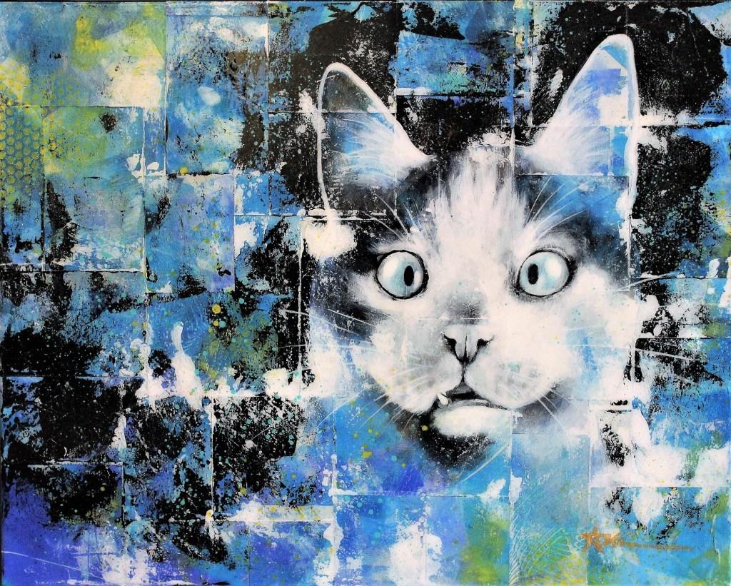 Portrait de River le chat