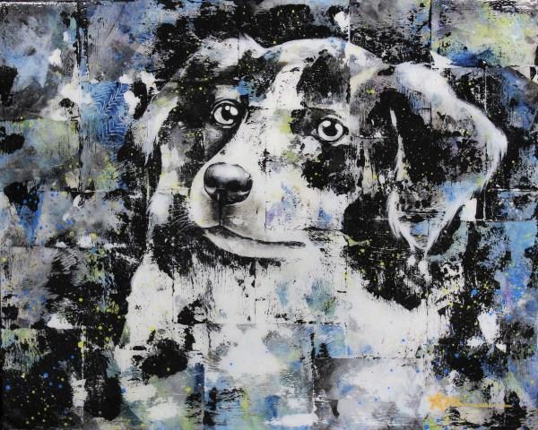 Portrait de Bungee le chien (commande spéciale)