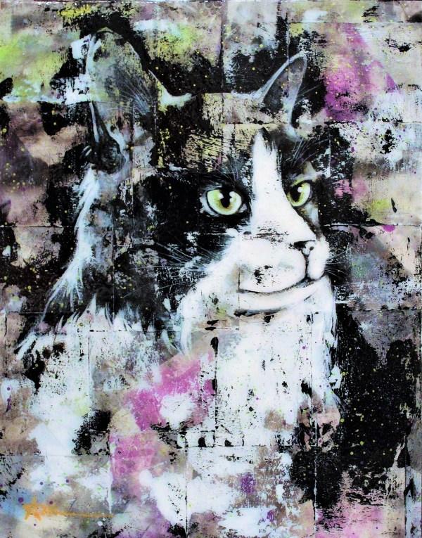 Portrait de Lili le chat (commande spéciale)
