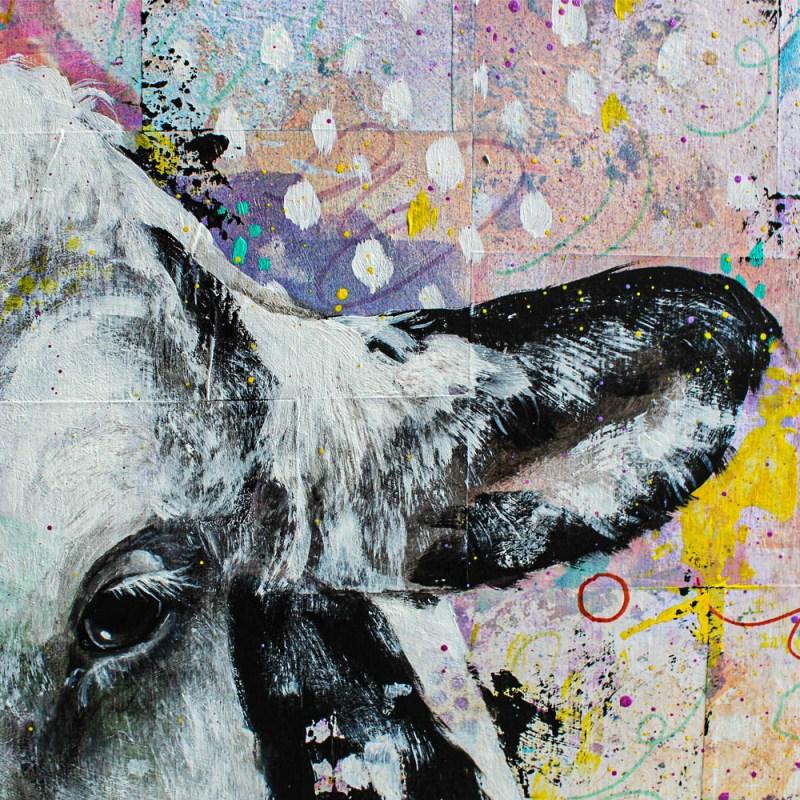 Détails du portrait de Bailey et Marty (vaches)