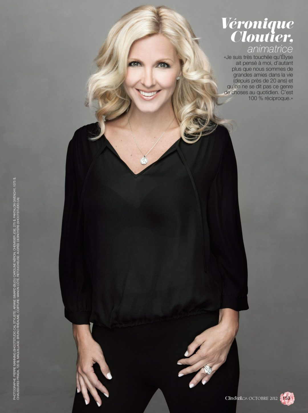 Veronique Cloutier Magazine Clin Doeil 2012 par Ariane Simard