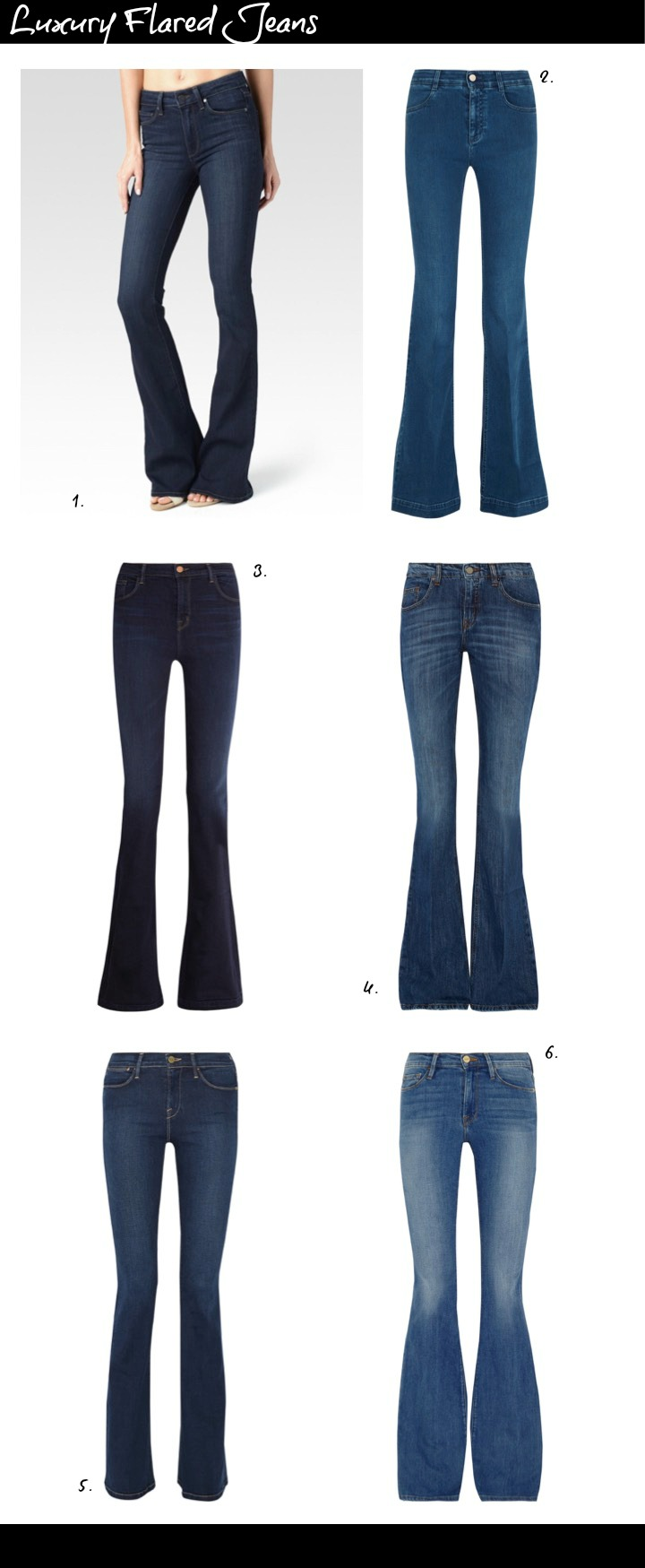 Best Flared Jeans Luxury Brands
