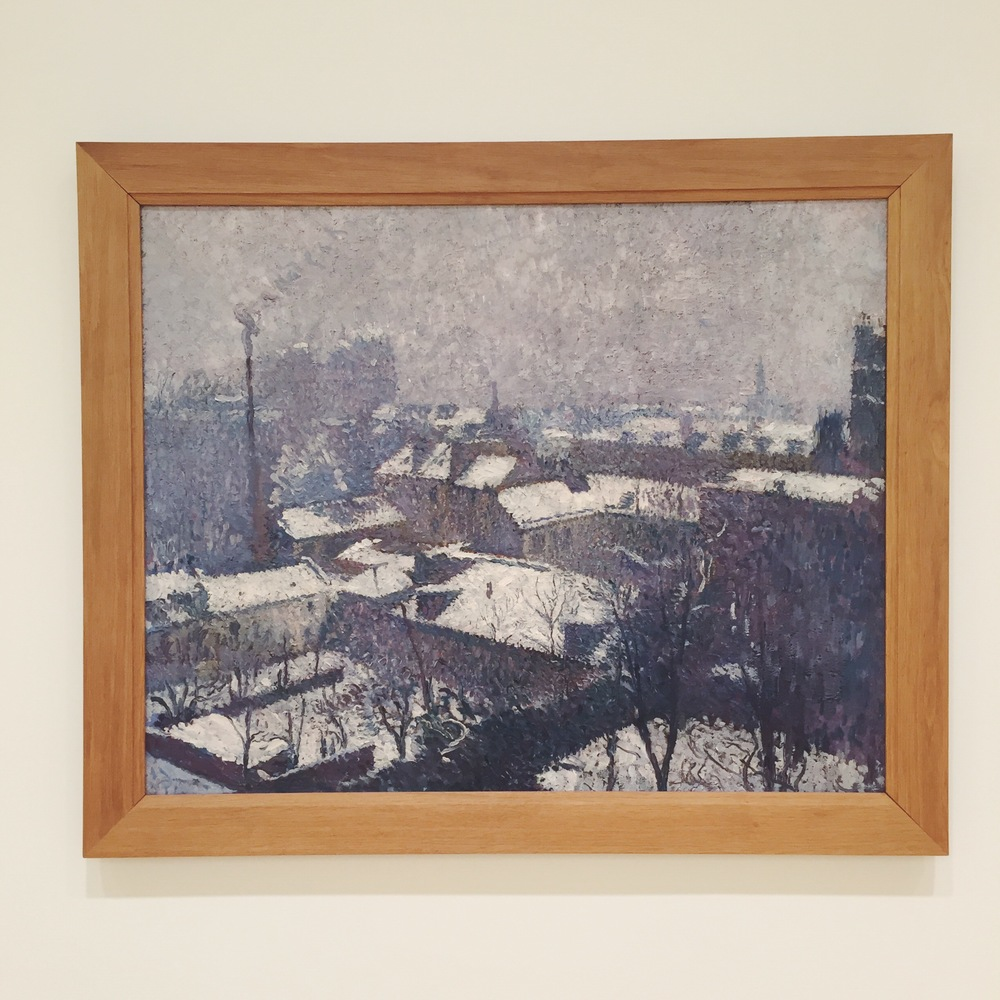 Painting from Henri Martin, Toits de Paris sous la neige, at theStrasbourg Museum of Modern and Contemporary Art.