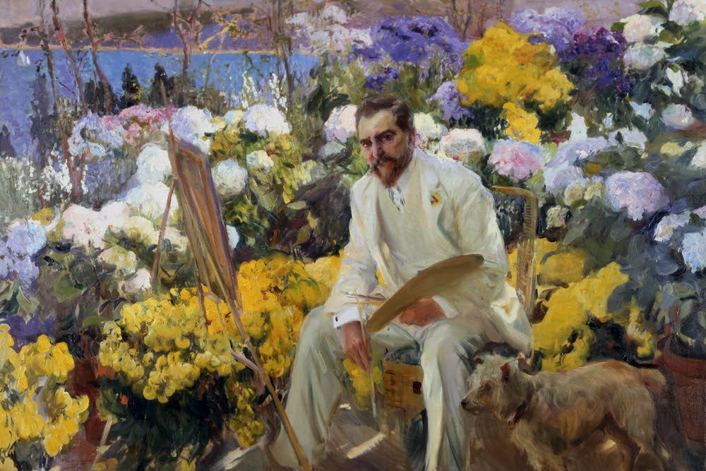Joaquin Sorolla, Louis Comfort Tiffany, 1911, Oil on canvas, 150 x 225.5 cm. On loan from the Hispanic Society of America, New York, NY Photo © Courtesy of The Hispanic Society of America, New York.
