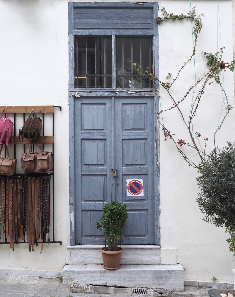 Capturing Pretty Doors in Athens, Greece