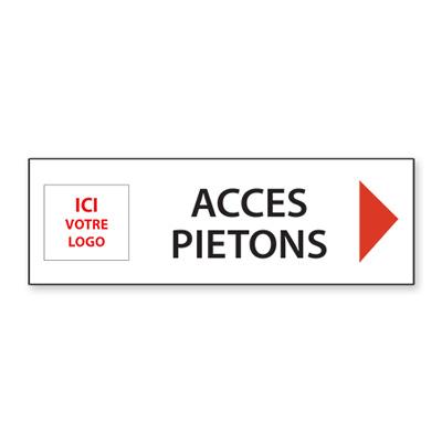 Panneau de chantier personnalisé Accès Piétons