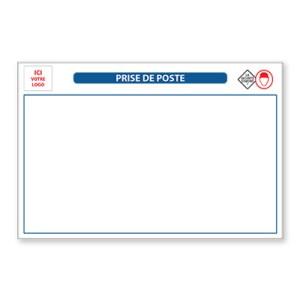 Panneaux de chantier : Tableau Blanc magnétique