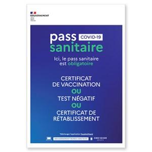 Panneau Pass Sanitaire ARIA Repro