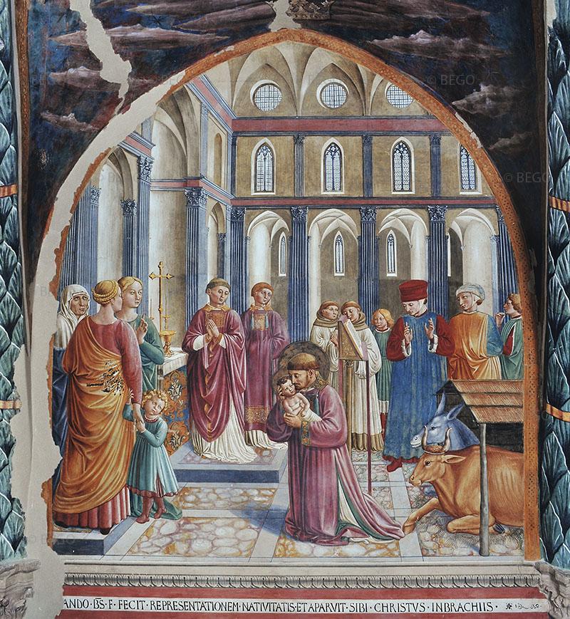 Benozzo Gozzoli Presepe di Greccio Chiesa di. San Francesco Montefalco