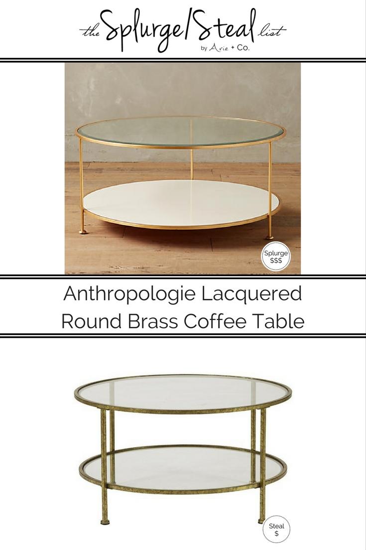 Anthropologie Round Brass Table