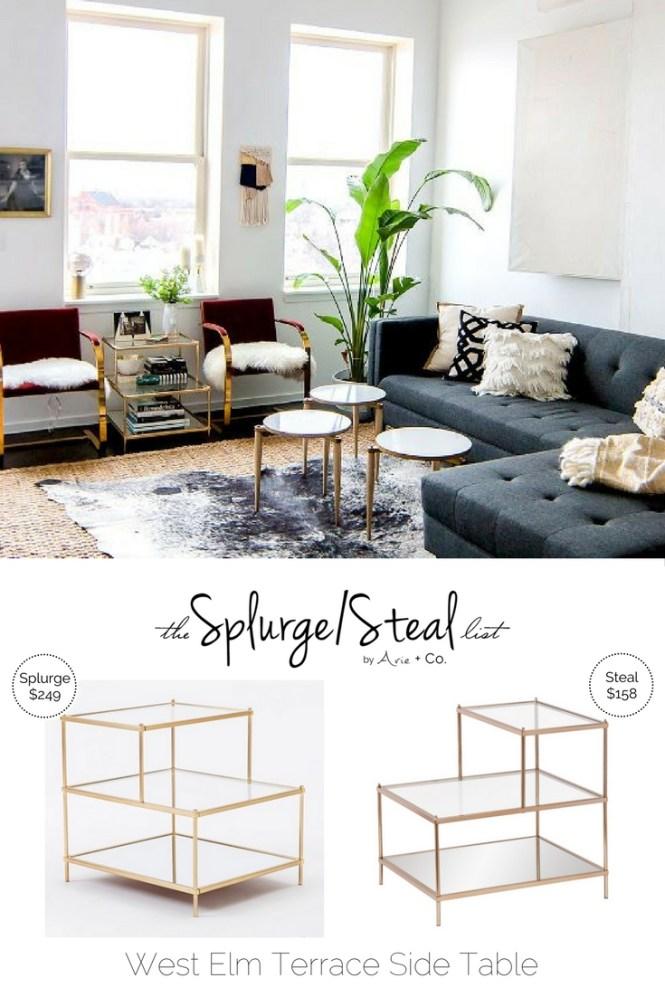 West Elm Terrace Brass Side Table Arie Co - West elm terrace coffee table