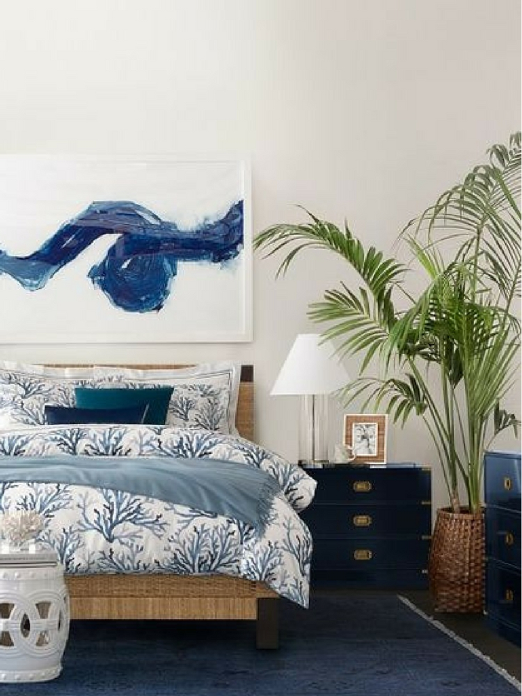 Williams Sonoma Navy Campaign Nightstand