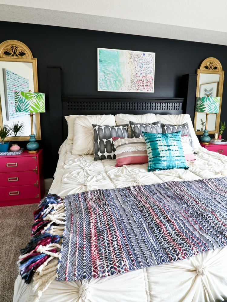 One Room Challenge – Week 7 (Eclectic Beachy Glam Master Bedroom Reveal)