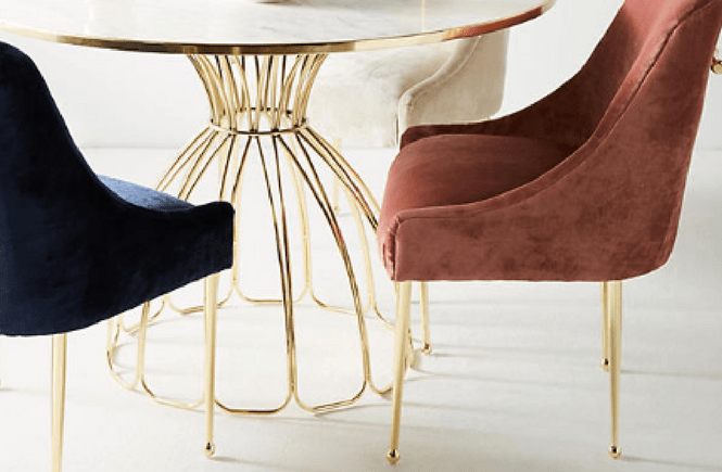 Anthropologie Elowen Velvet Dining Chair Splurge vs. Steal; Knock off; Knockoff Decor; Dupe