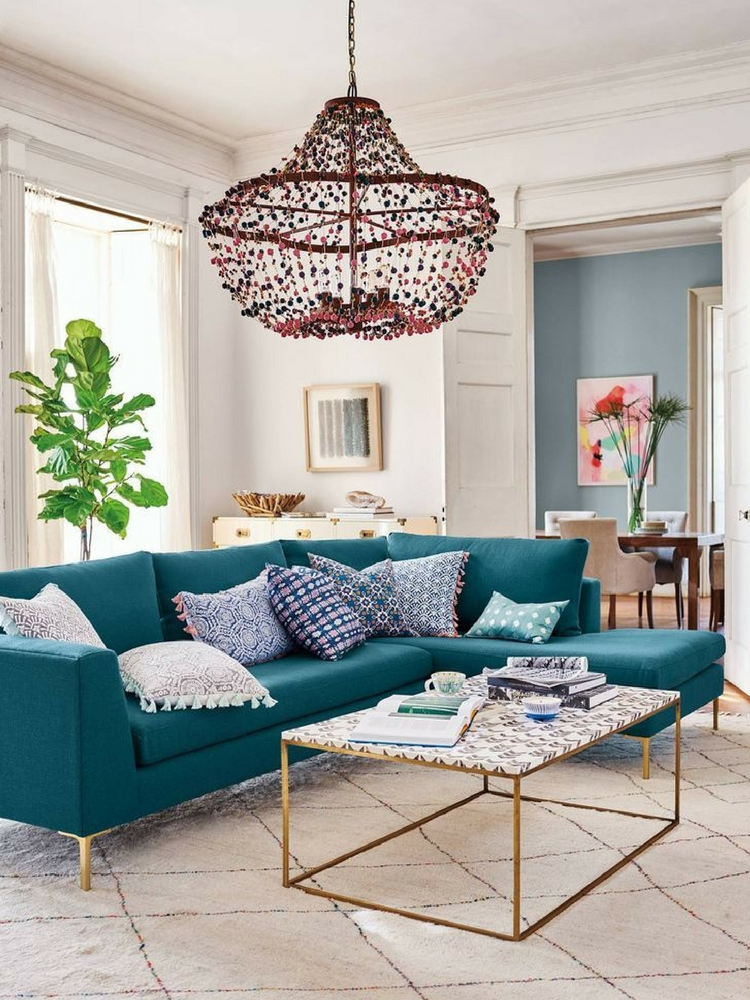 Anthropologie Edlyn Sectional Chaise Two Piece
