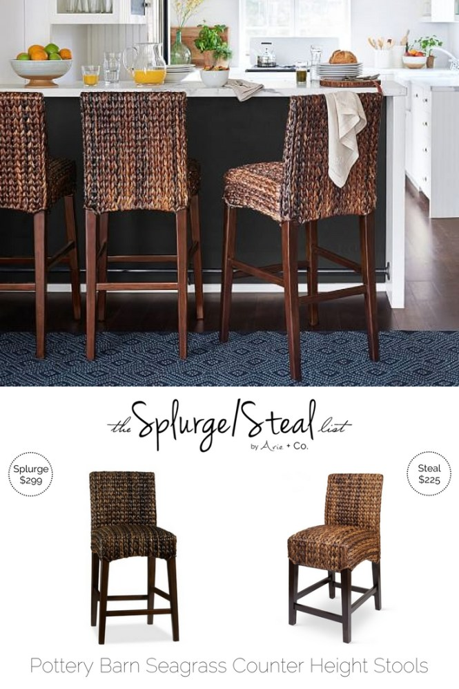 Pottery Barn Seagrass Bar Stools Arie Co