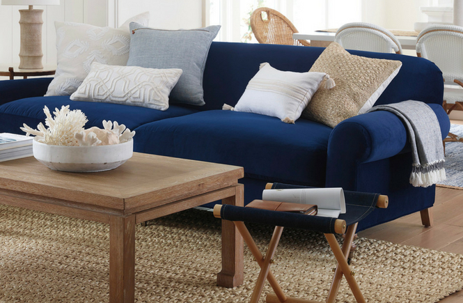 Stupendous Serena And Lily Cambridge Sofa In Navy Velvet Arie Co Pdpeps Interior Chair Design Pdpepsorg