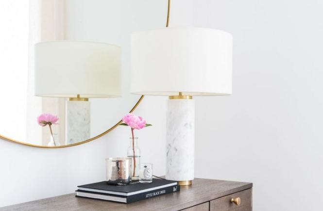 West Elm Marble Pillar Table Lamp Arie Co