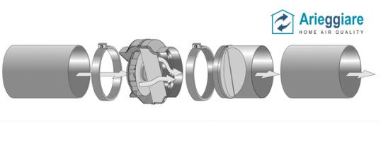 Ventilatore in linea VL Arieggiare - Schema accessori