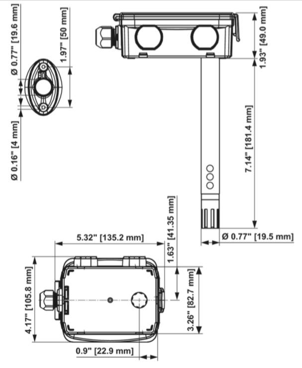 Dimensioni Sonda 22DC-11 Belimo