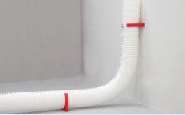 clip di fissaggio per tubo corrugato