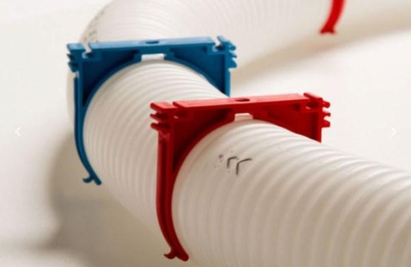 clip fissaggio tubo corrugato per VMC