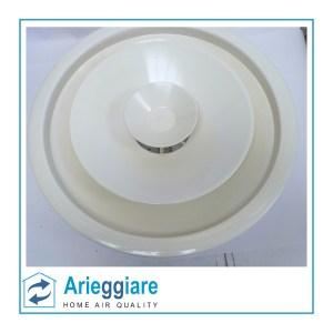 Diffusore circolare bianco a coni regolabili con serranda