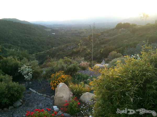Sunset in Ojai from Meditation Mount
